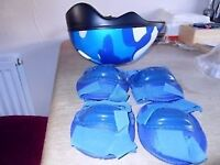 BOYS SAFETY HELMET, ELBOW & KNEE PADS - (KIDS AGE 2-5 YRS OLD)