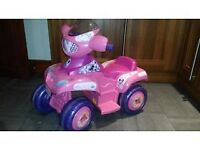 FEBER ELECTRIC 6V BATTERY POWERED MINNIE MOUSE QUAD BIKE WITH CHARGER - £30