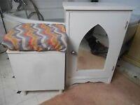 BATHROOM CUPBOARD AND STORAGE BOX WHITE - 45cm WIDE + 70cm HIGH { 45CM X 45CM LININ BOX ] CO15 6AJ