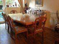 Stunning Designer Limed Oak Table and 8 Chairs