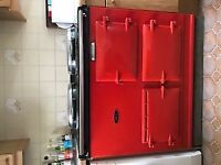 Red 2 oven gas AGA for sale. Great condition.