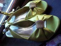 Sandal with heel Green Monsoon