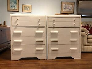 Matching Set  - White Solid Wood Dressers