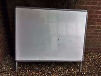 Office Whiteboard 120 x 90 cm with wall hanging bracket