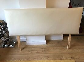 Cream headboard double bed size