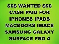💰CASH PAID FOR IPHONE 6S, 7, 7 PLUS, MACBOOKS, IPADS, IMACS, SAMSUNG GALAXY S7 EDGE, S8, S8 PLUS.