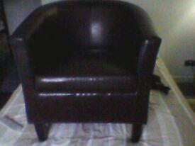 brand new brown tub chair