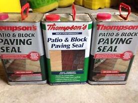 15L Thomson block paving seal / sealer - for patios, driveways etc after pressure washing