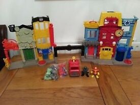 Fisher Price Imaginext rescue city centre fire station with fire engine