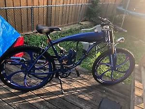 Gas powered motor assisted bicycle