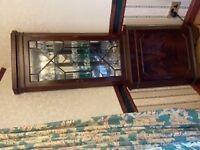 Display corner cabinet mahogany
