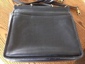 Black Leather Coach Briefcase/Laptop Case  -  No. C8C-5299