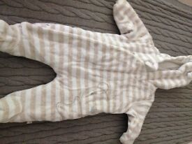 Mothercare pramsuit 0-3mths