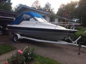 1992 Bayliner with cuddie includes trailer in good condition