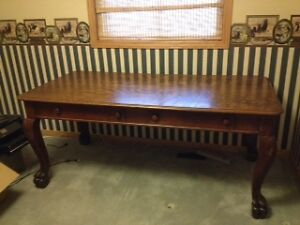 Solid Oak Library Table
