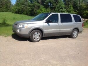 Pontiac Montana mini van, SV6, extended version, year 2009