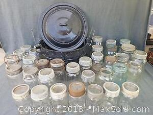 1930s Mason Jars and Canning Kettle