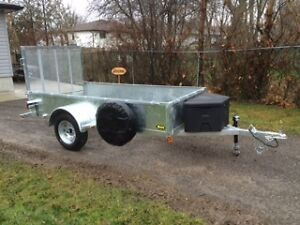"""5x10'2"""" hot dipped galvanized trailer. This one is ready to go!"""