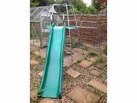 TP slide, climbing frame, monkey bars and tent