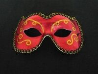 RED AND GOLD MASQUERADE BALL MASK