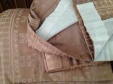Curtains lined beige with pleat tape tops Thornlands Redland Area Preview