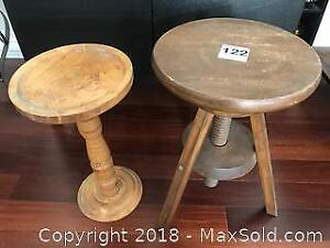 Stool and Stand A