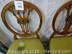 Two Open Back French Art Moderne Dining Chairs