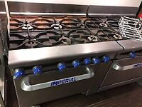 INDUSTRIAL IMPERIAL 6 BURNER GAS STOVE WITH OVEN