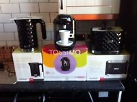 kettle, toaster, tassimo coffee machine and steam iron £80