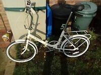 Vintage Raleigh compact folding bicycle bike