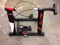 Elite voltaire indoor bike trainer and wheel rest
