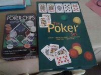 'The Poker Set' + Tin of 100 duel toned poker chips. Brand new. £10