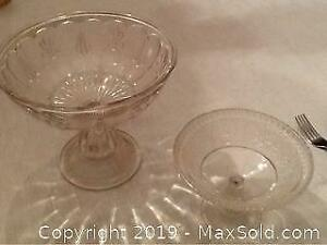 Pressed Glass Comports