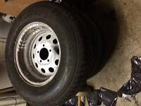 rim avec pneu pour trailer ou vr ST205/75/14
