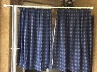 Blue curtains with stars