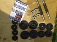 York Cast Iron 20KG Dumbbell Set