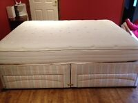 King size divan and mattress