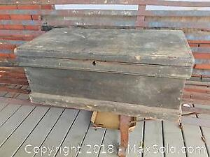 Antique Painted Pine Tool Chest