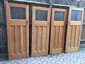 1930s Doors 1 over 3 paneled pine doors (5 available)