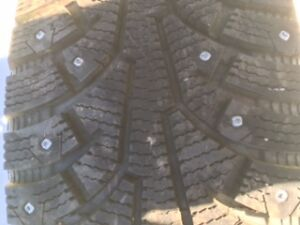 4 Studded Winter Tires and Rims 235/65/17