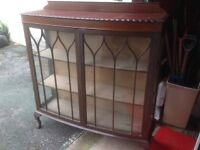 Unfinished project. Antique Mahogany Display Cabinet