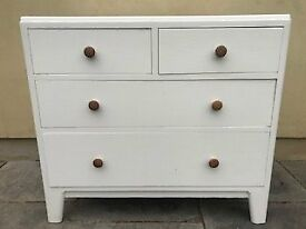 Painted chest of drawers, pine