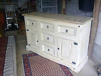 lovely solid pine rustic sideboard