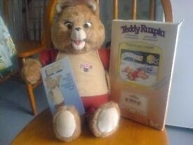 Teddy Ruxpin original with as new book and tape