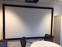 Sanyo PDG - DWL Projector & Large Saphire fixed 11ft x 132ft Projector screen
