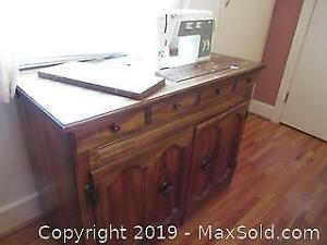 Sewing Cabinet And Machine C