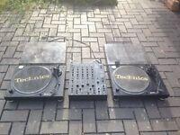 DJ Vinyl Record Player Set Up with Behringer DJX900 Mixer