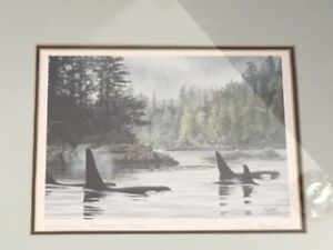 2 Don Li-Leger framed prints-'The Orcas' and 'Northwest Passage'