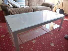 """""""Modern"""" Style Glass and Metal Coffee Table"""