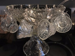 Retro Punch Bowl set